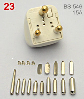 Wonpro DIY adapter kit,  BS 546 15A connector