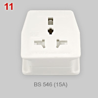 Adapter plug with multiple outlet and combined contacts (1)
