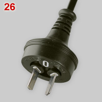 AS/NZS 3221 10A plug without earth pin