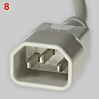 IEC 60320 type E appliance plug (male)