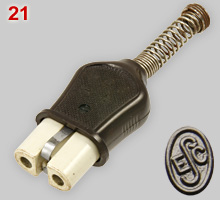 Czechoslovak, 10A earthed appliance connector