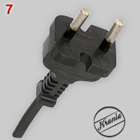 Krania kontur plug with moulded cord