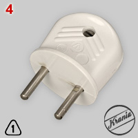 Krania 2-pin plug made of melamine