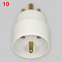 Danish adapter for CEE 7-5 plugs