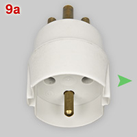 Danish adapter for CEE 7-7 plugs
