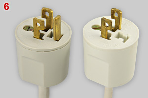 Danish ceiling lock plugs