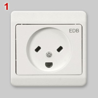 Danish EDB socket