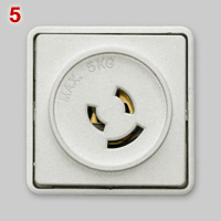 Danish ceiling lock socket