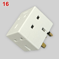 BS1363 3-way multi-plug