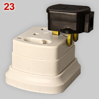 BS1363 classic surface mount socket with incorrect plug