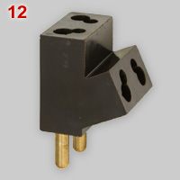 Grelco BS 372 Part 1, 2-pin dual plug with outlets for 5A and 2A