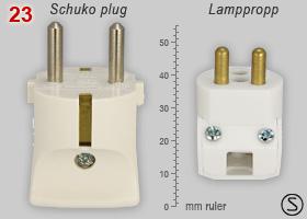 Comparison Of Schuko And Swedish Lamp Plug