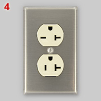 US dual voltage 15-20A receptacle