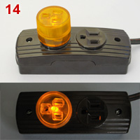 Flat blade power strip and adapter with indicator light