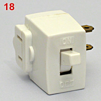 US flat bald adapter plug-in switch tap